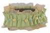 Green elastic collar with Yellow Jade
