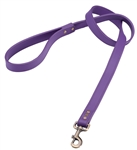 Purple leather dog leash