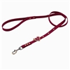 Red leather dog leashes with heart and Pink Cat Eye