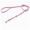 Pink leather dog leashes with 3 circles and Pink Cat Eye