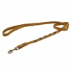 Yellow leather dog leash with faceted Amethyst gem stone