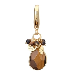 Faceted Tiger Eye Charm