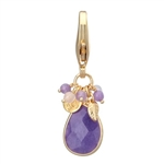 Faceted Purple Quartz Charm